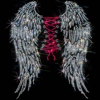 Rhinestone Corset Angel Wings