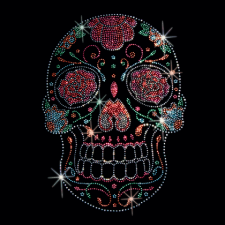 Rose Eyes Candy Skull