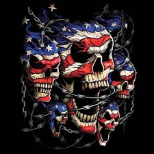Screaming American Skulls