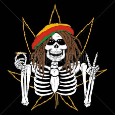 Dreadlock Rasta Skeleton