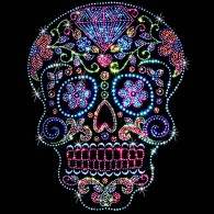 Rhinestone Diamond Candy Skull