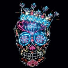Rhinestone Crown Sugar Skull