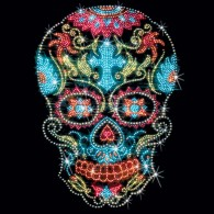 Rhinestone Sugar Skull Cross