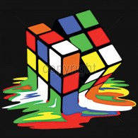 Melting Rubiks Cube
