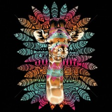 Rainbow Tribal Giraffe
