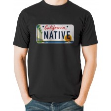 Native California License Plate